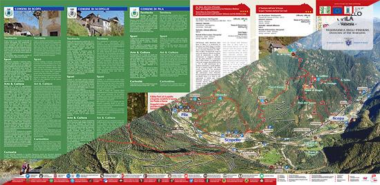 itinerari di trekking a Pila Scopello e Scopa